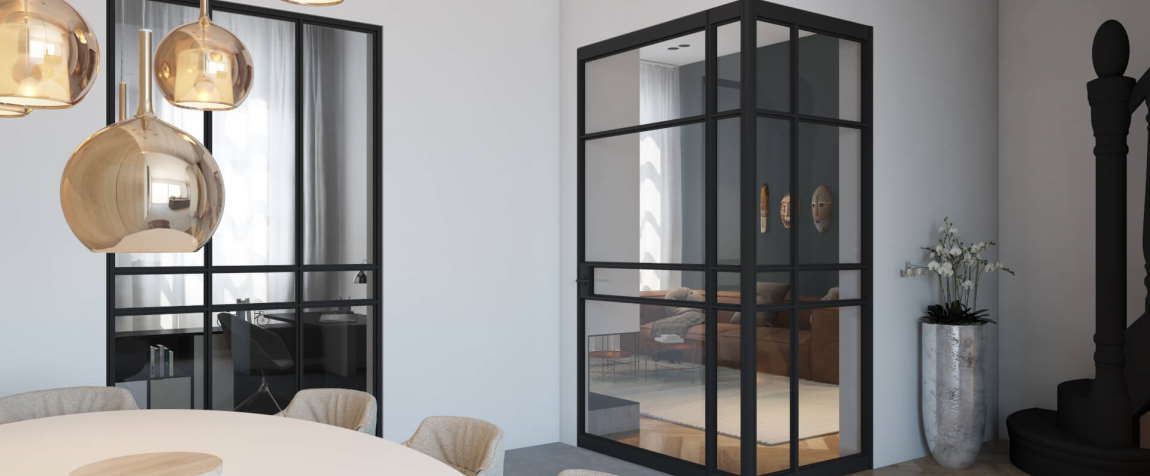 Puertas interiores de aluminio